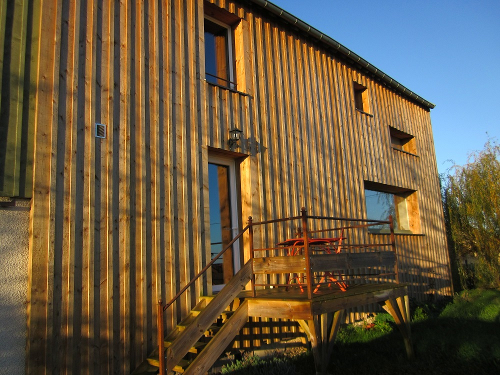 Bardage et isolation ext rieure bois et fibres - Isolation exterieure bois bardage ...