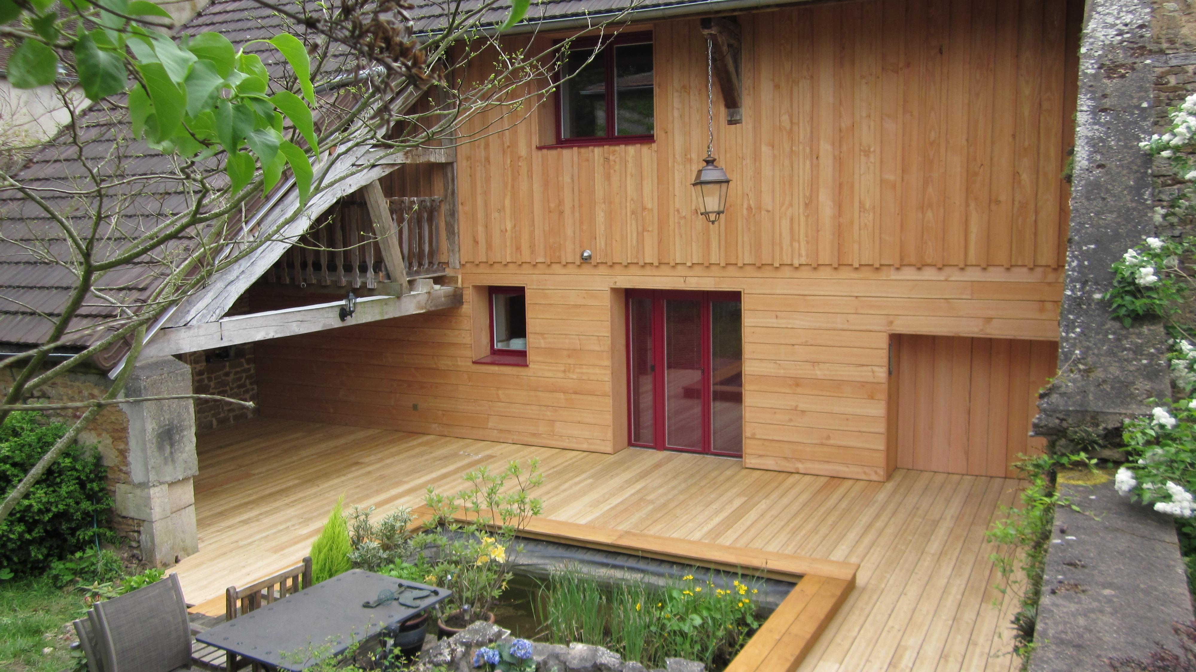 terrasse bois orientee nord diverses id es de conception de patio en bois pour. Black Bedroom Furniture Sets. Home Design Ideas
